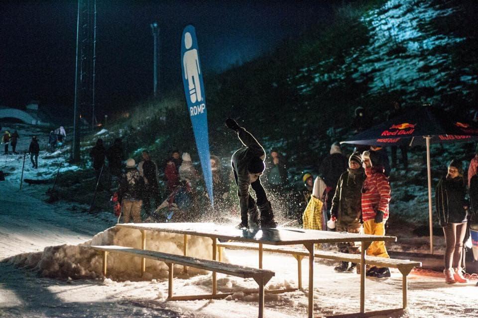 сноуборд контест в Солнечной Долине