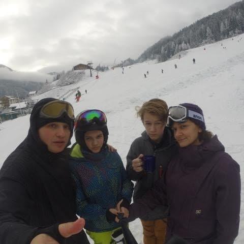 тимофей с семьёй в австрии