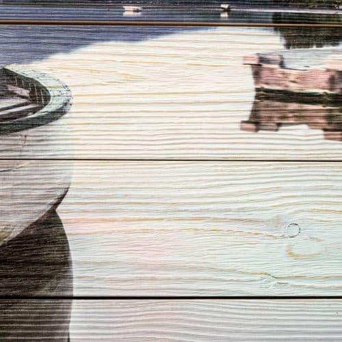 фото на деревянной основе