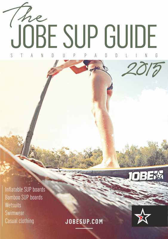 Guide Jobe SUP 2015